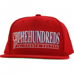 The Hundreds Raidurrs Snapback Cap (red)