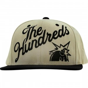 The Hundreds Slant Snapback Cap (natural / black)