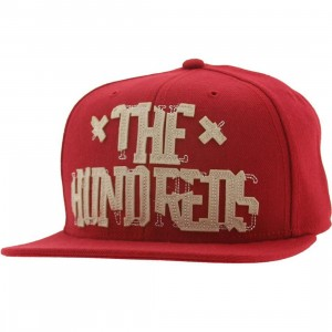 The Hundreds Tore Snapback Cap (maroon)