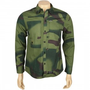 The Hundreds Wine Woven Long Sleeve Shirt (camo)