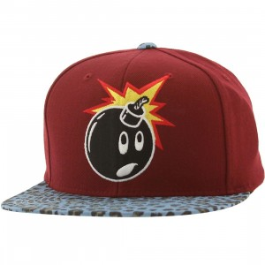 The Hundreds Adam Snapback Cap (maroon)
