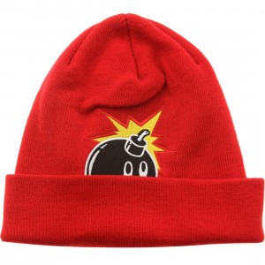 The Hundreds Peak-A Beanie (red)