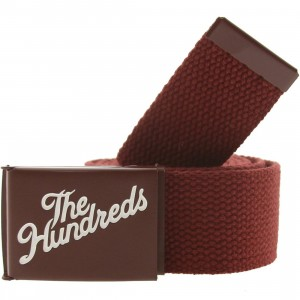 The Hundreds Tactic Belt (maroon)