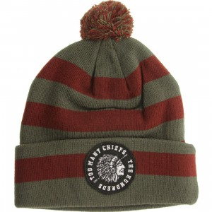 The Hundreds Maul Beanie (maroon)