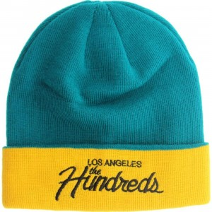 The Hundreds Team Beanie (turquoise / yellow)