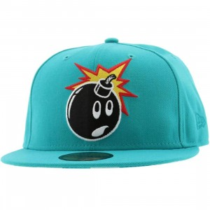 The Hundreds Adam Stripes New Era Fitted Cap (teal)