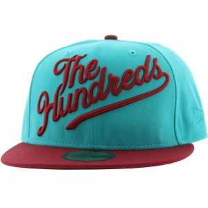 The Hundreds Slant New Era Fitted Cap (teal)