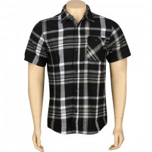 The Hundreds Venus Flannel Short Sleeve Shirt (black)