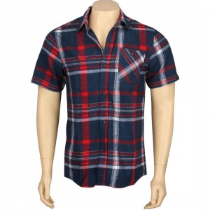 The Hundreds Venus Flannel Short Sleeve Shirt (navy)
