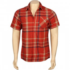 The Hundreds Venus Flannel Short Sleeve Shirt (red)