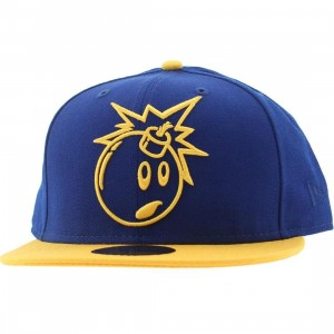The Hundreds Adam Outline New Era Fitted Cap (blue)