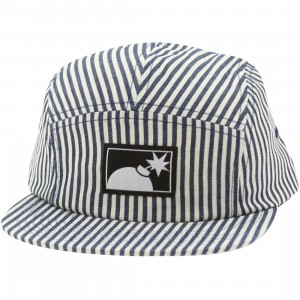 The Hundreds Ticking 5 Panel Adjustable Cap (navy)