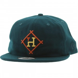 The Hundreds Brook New Era Fitted Cap (green / dark green)