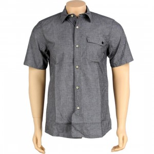 The Hundreds Stacks Short Sleeve Shirt (black)