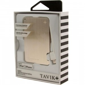 Tavik Form Ultra Thin USB Backup Battery - 1500mAh (gold / brushed)