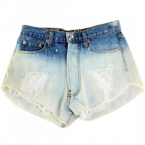 The laundry Room Women Cutoffs Big Cat Shorts (blue / ombre)
