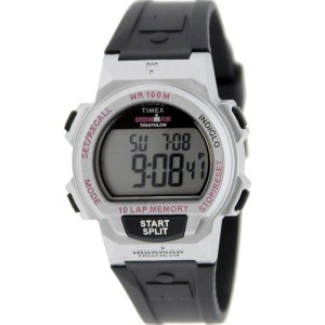 Timex 10 Lap Memory Chrono Watch (black / silver)