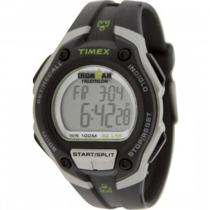 Timex 30 Lap Memory Chrono Watch (black / silver / green)