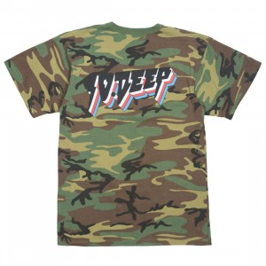 10 Deep Men All The Lights Tee (camo / woodland camo)