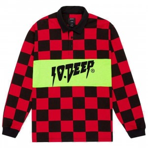 10 Deep Men Manchester Rugby Shirt (red / black)