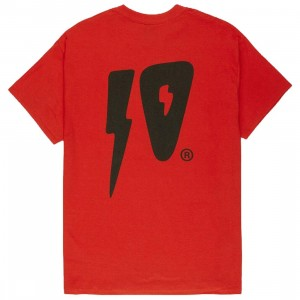 10 Deep Men 10 Strikes Tee (red)