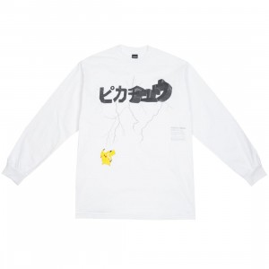 BAIT Exclusive 10 Deep x Pokemon Men Lightning Strike Long Sleeve Tee (white)