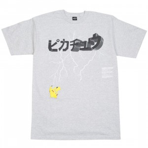 BAIT Exclusive 10 Deep x Pokemon Men Lightning Strike Tee (gray / heather)