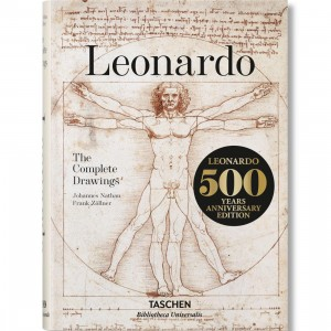 Leonardo Da Vinci The Complete Drawings Book By Frank Zollner (brown)
