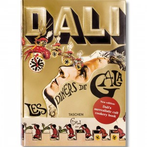 Dali Les Diners de Gala Book (gold / hardcover)