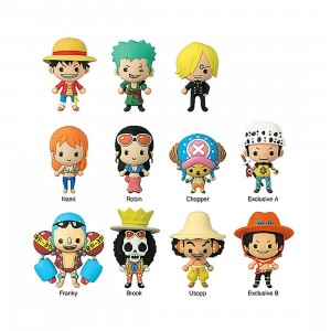 Monogram Shonen Jump One Piece 3D PVC Foam Key Ring - 1 Blind Box