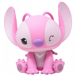 Monogram Disney Lilo And Stitch Angel Figural PVC Bank (pink)