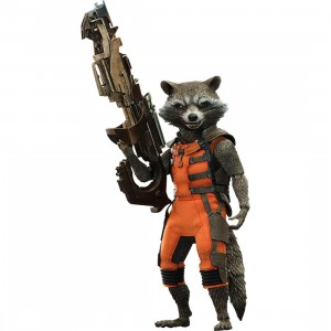 Hot Toys Guardians of the Galaxy Rocket 1/6 Scale Collectible Figure (brown)