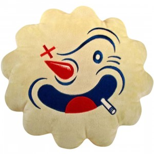Bigshot Toyworks Coney Cloud Pillow - Candykiller (white)