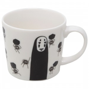 Studio Ghibli Benelic Spirited Away Mysterious Color Changing Teacup Mug With No Face And Soots (white)