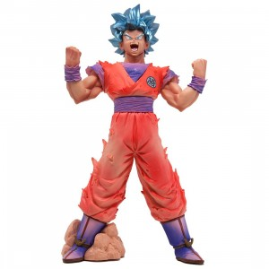Banpresto DRAGONBALL SUPER BLOOD OF SAIYANS SS BLUE GOKU Figure (orange)