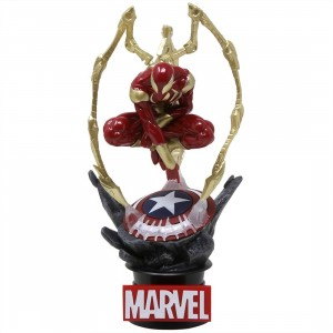 Beast Kingdom Marvel Avengers Infinity War Iron Spider-Man D-Select DS-015 Statue - PX Previews Exclusive (red)
