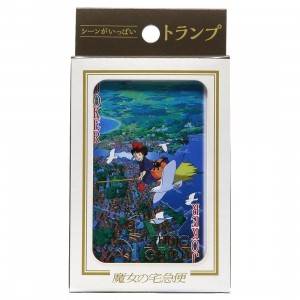 Studio Ghibli Ensky Kiki's Delivery Service Movie Scenes Playing Cards (pink)