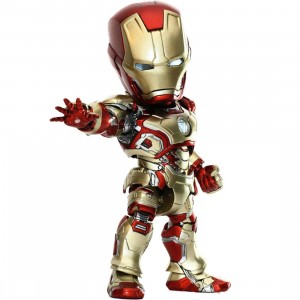 Herocross Hybrid Metal Figuration #010 Iron Man 3 Mark XLII Diecast Figure (gold / red)