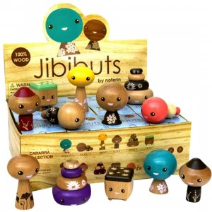 Jibibuts Wooden 3 Inch Mini Series Figure - 1 Blind Case (12 Blind Boxes)