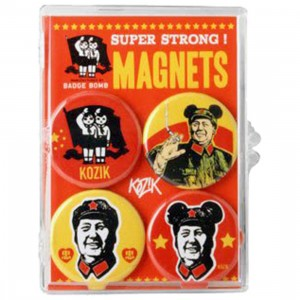 Mao Set Of 4 Magnets - Kozik (red / yellow)
