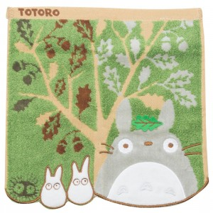 Studio Ghibli Marushin My Neighbor Totoro Totoro and Acorn Tree Mini Towel (green)
