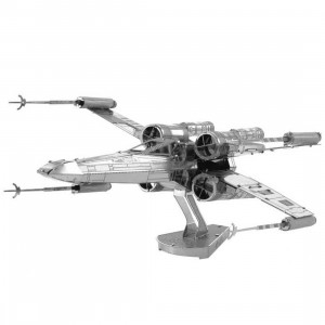 Fascinations Metal Earth Model Kit - Star Wars X-wing Fighter (silver)