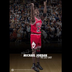 NBA x Enterbay Michael Jordan Series 2 1/6 Scale 12 Inch Figure - The Last Shot (red)