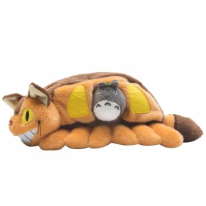Studio Ghibli Sun Arrow My Neighbor Totoro Catbus And Gray Totoro Plush (brown)