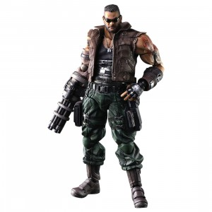 Square Enix Final Fantasy VII Remake Play Arts Kai Barret Wallace Ver. 2 Figure (brown)