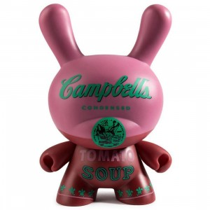 Kidrobot x Andy Warhol Masterpiece Campbells Soup Dunny 8 Inch Figure (red)