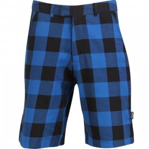 Triumvir Plaid Shorts (blue / black)