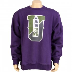 Under Crown Varsity Crewneck Sweatshirt (purple)