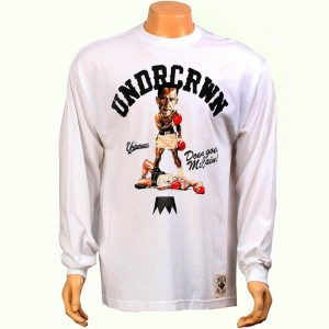 Under Crown Down Goes McCain Long Sleeve Tee (white)