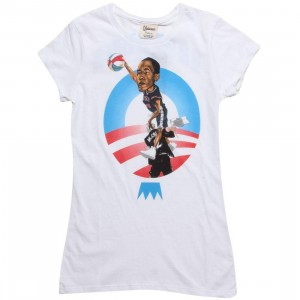 Under Crown Womens Obama O-Face Tee (white)